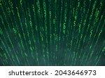 green matrix digital background....   Shutterstock .eps vector #2043646973