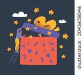 cartoon vector illustration of... | Shutterstock .eps vector #2043658046
