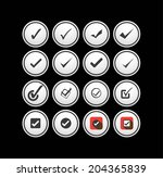 tick mark  check  approval... | Shutterstock .eps vector #204365839