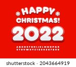 vector cute greeting card happy ... | Shutterstock .eps vector #2043664919