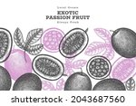 hand drawn sketch style passion ... | Shutterstock .eps vector #2043687560