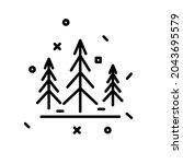 abstract christmas tree icon.... | Shutterstock .eps vector #2043695579
