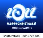 vector greeting card merry... | Shutterstock .eps vector #2043724436