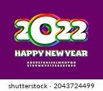 vector trendy greeting card... | Shutterstock .eps vector #2043724499