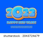 vector funny greeting card... | Shutterstock .eps vector #2043724679