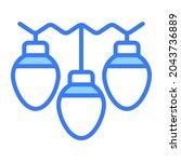 decoration lights vector blue... | Shutterstock .eps vector #2043736889
