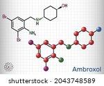 ambroxol mucoactive drug... | Shutterstock .eps vector #2043748589
