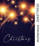 fireworks shining background.... | Shutterstock .eps vector #2043770510