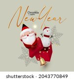 merry christmas and happy new... | Shutterstock .eps vector #2043770849