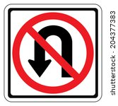 warning traffic sign do not... | Shutterstock .eps vector #204377383