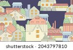 seamless texture with night...   Shutterstock .eps vector #2043797810