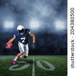 american football player...   Shutterstock . vector #204380500