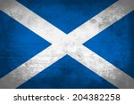 scotland  scottish flag on... | Shutterstock .eps vector #204382258