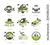 golf icon set  | Shutterstock .eps vector #204386203