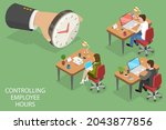3d isometric flat vector... | Shutterstock .eps vector #2043877856