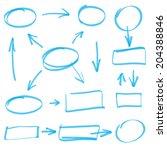 vector marker elements | Shutterstock .eps vector #204388846
