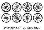wheel of west wild isolated...   Shutterstock .eps vector #2043925823