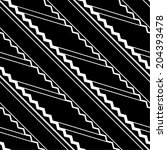 monochrome seamless wavy pattern | Shutterstock .eps vector #204393478