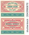 set of 2 vintage labels for...   Shutterstock .eps vector #2043980870