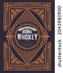 whiskey label with old frames   Shutterstock .eps vector #2043980900