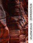 Desert Varnish One Fins of Orange Rocks in Buckskin Gulch