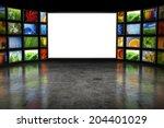 tv screeen with images | Shutterstock . vector #204401029