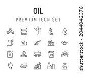 premium pack of oil line icons. ...