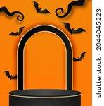 happy halloween sale theme...   Shutterstock .eps vector #2044045223