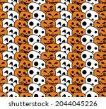 halloween seamless pattern...   Shutterstock .eps vector #2044045226