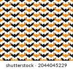halloween seamless pattern...   Shutterstock .eps vector #2044045229