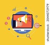 digital marketing campaign ... | Shutterstock .eps vector #2044072979