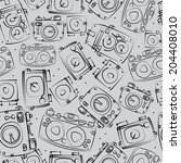 photo cameras seamless pattern | Shutterstock . vector #204408010
