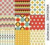 retro seamless pattern | Shutterstock .eps vector #204410464
