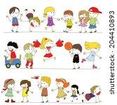 Set Of Kids Cartoon
