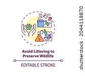 avoid littering to preserve...   Shutterstock .eps vector #2044118870
