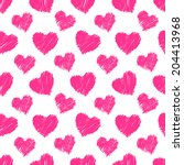 heart pattern  vector seamless... | Shutterstock .eps vector #204413968