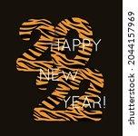 vector illustration 2022 happy...   Shutterstock .eps vector #2044157969