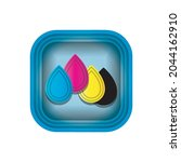 cmyk modern icons collection...   Shutterstock .eps vector #2044162910