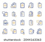 checklist documents line icons. ...   Shutterstock .eps vector #2044163363