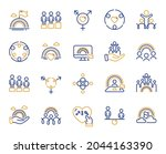 equality  equity and diversity...   Shutterstock .eps vector #2044163390