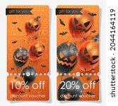 discount voucher for halloween... | Shutterstock .eps vector #2044164119