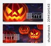 discount banner for autumn ... | Shutterstock .eps vector #2044164143