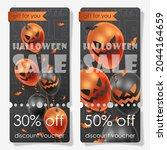 discount voucher for halloween... | Shutterstock .eps vector #2044164659