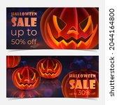 discount banner for halloween... | Shutterstock .eps vector #2044164800