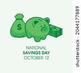 national savings day vector....   Shutterstock .eps vector #2044177889