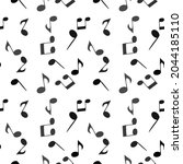 soaring musical notes. seamless ...   Shutterstock .eps vector #2044185110