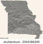 topographic positive relief map ...   Shutterstock .eps vector #2044186340