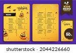 halloween kids menu template... | Shutterstock .eps vector #2044226660