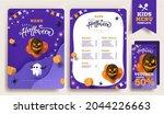 halloween kids menu template... | Shutterstock .eps vector #2044226663