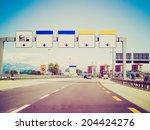 vintage retro looking... | Shutterstock . vector #204424276